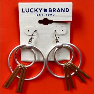 Lucky Brand Modern Circle Earrings